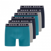 Hugo Boss 6-pack boxershorts briefs - blauw/grijs