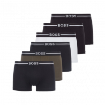 Hugo Boss 6-pack boxershorts trunk organic - zwart/wit/groen