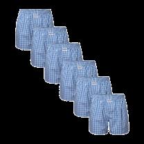 Zaccini 6-pack woven boxershorts - lichtblauw