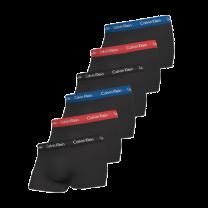 Calvin Klein 6-pack boxershorts trunk - zwart/rood/blauw
