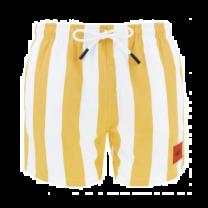 Hugo Boss zwembroek gestreept - geel/wit