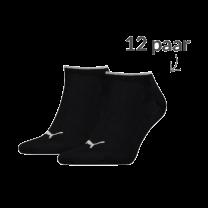 Puma 12 paar sneaker sokken lurex zwart-zilver