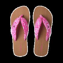 O'Neill slippers dames - roze/wit