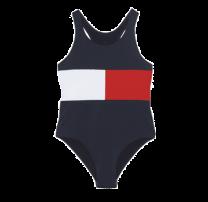 Tommy Hilfiger girls badpak logo flag - navy