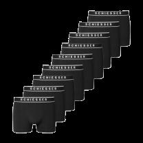 Schiesser 9-pack boxershorts - zwart