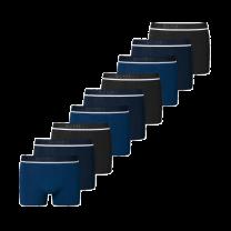 Schiesser 9-pack boxershorts - donkerblauw/zwart
