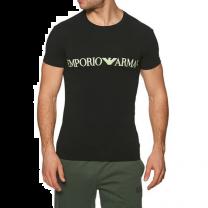 Emporio Armani knit t-shirt - zwart
