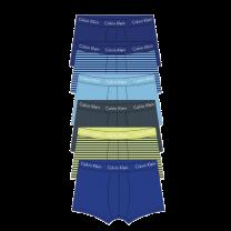 Calvin Klein 6-pack low rise trunk - stripes/geel/blauw