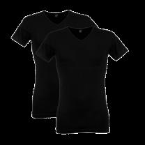 Alan red 2-pack T-shirt Oklahoma V-hals - zwart