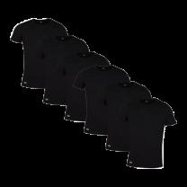 Lacoste 6-pack t-shirts - zwart