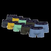 Tommy Hilfiger 10-pack boxershorts trunk - blauw/groen/geel