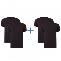 Nike 4-pack t-shirts crew neck mannen zwart