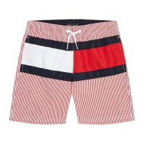 Tommy Hilfiger zwembroek kids stripes - rood