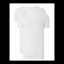 Schiesser 2-pack t-shirts v-hals - wit