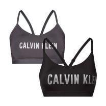 Calvin Klein 2-pack (low) support bralette - zwart