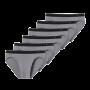 Schiesser 6-pack Rio heren slips - grijs