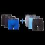Nike 6-pack boxershorts brief mannen - blauw/zwart/grijs