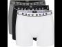 Hugo Boss 3-pack Boxershorts Essential Cotton Stretch Zwart grijs wit long