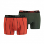 Puma 2-pack boxershorts print - army green/oranje