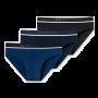 Schiesser 3-pack heren slips - zwart/blauw