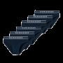 Schiesser 6-pack Rio heren slips - donkerblauw
