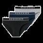 Schiesser 3-pack heren slips - zwart/donkerblauw/grijs