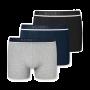 Schiesser 3-pack boxershorts - grijs/donkerblauw/zwart