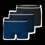 Schiesser 3-pack boxershorts - blauw/zwart