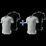 Nike 4-pack t-shirts crew neck zwart/grijs