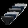 Schiesser 6-pack heren slips - zwart/grijs/donkerblauw