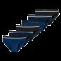 Schiesser 6-pack Rio heren slips - donkerblauw/zwart