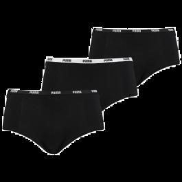 Puma basic mini short 3 pack zwart dames