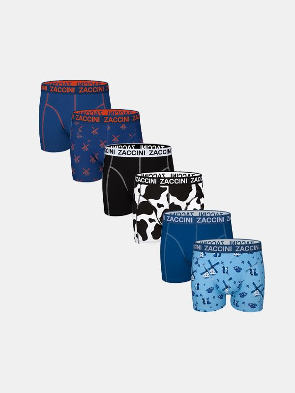 Zaccini 6 boxershorts Dutch pack - Zaccini Goes Dutch