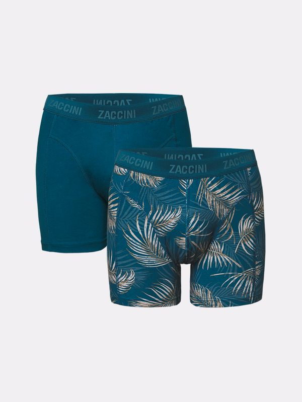 Zaccini 2-pack boxershorts palm leaves