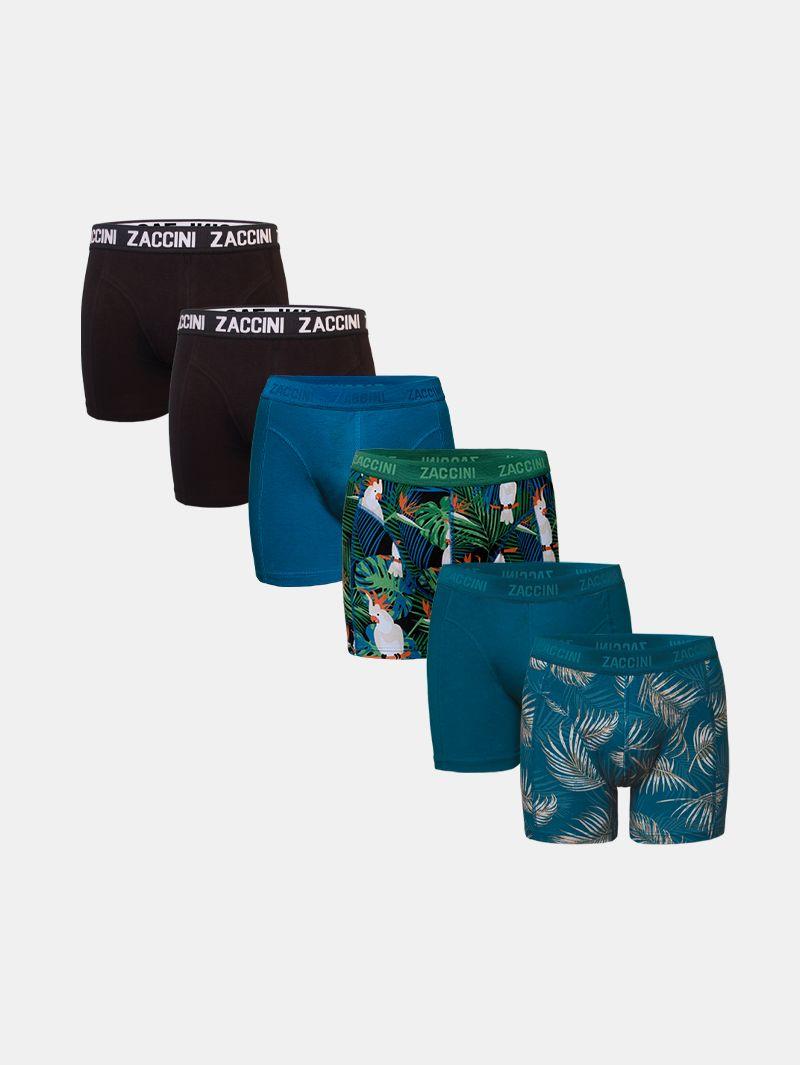 Zaccini 6-pack boxershorts jungle