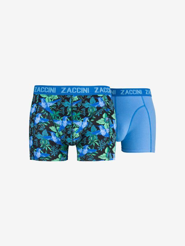 Zaccini 2-pack heren boxershorts Kolibrie - blauw/zwart