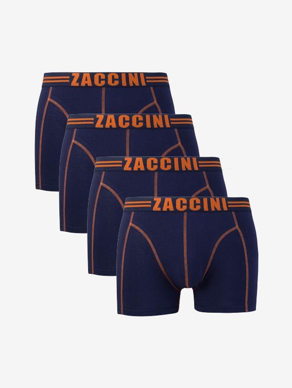 Zaccini 4-pack boxershorts navy orange