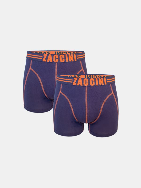 Zaccini 2- Pack Boxershorts Navy Orange