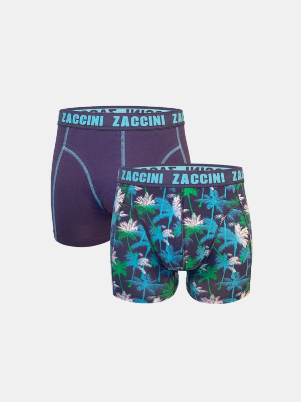 Zaccini boxershorts 2-pack jungle blauw