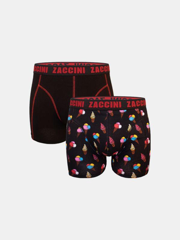 Zaccini 2-pack boxershorts ijsjes