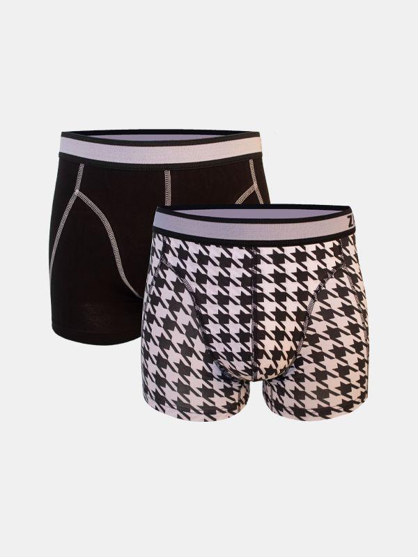 Zaccini 2-pack heren boxershorts Pied de Coq