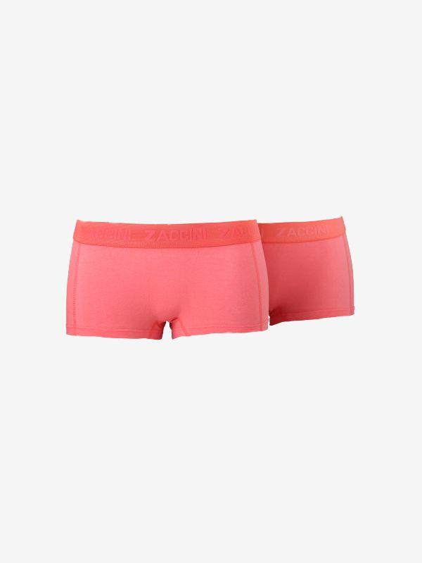 Zacinni 2-pack dames boxershort - Papaya roze