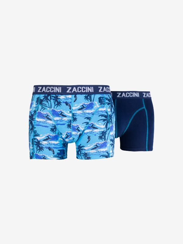 Zaccini 2- Pack heren boxershorts Surfing - blauw