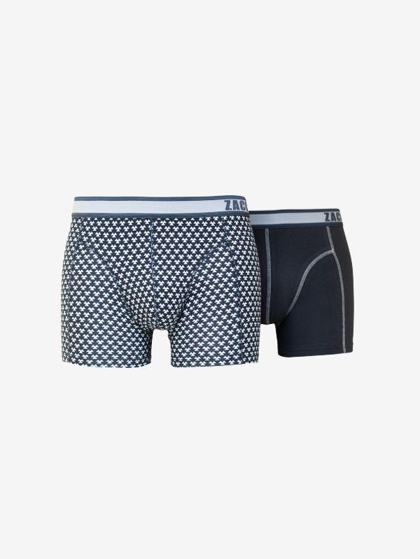 Zaccini 2-pack boxershorts zwart / wit