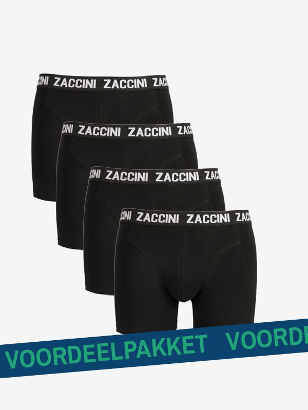 Zaccini 4-pack boxershorts zwart