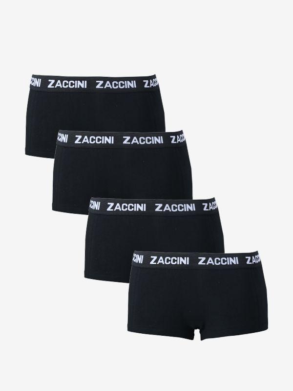 4-pack dames boxershorts zwart