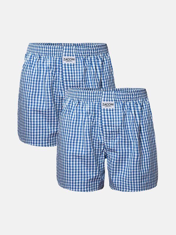 Zaccini 2-pack boxershorts woven lichtblauw