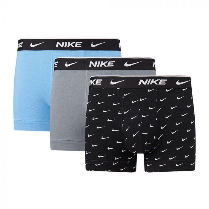 Nike 3-pack trunk boxershorts mannen zwart/grijs/blauw