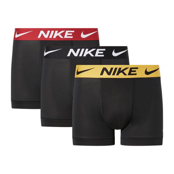 Nike 3-pack boxershorts trunk geel/rood/zwart