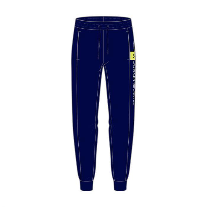 Calvin Klein Performance heren joggingsbroek Knit - blauw/geel/logo